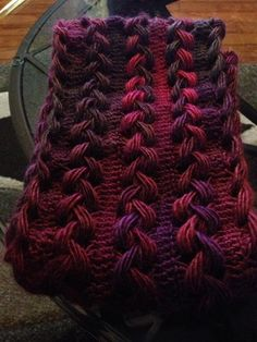 Hairpin Scarf with Red Heart Unforgetable Winery