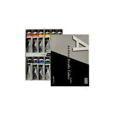 Acrylic Color Paint Alpha Silver Set A type 12 Colors 50ml 1.69oz Tube  #Alpha