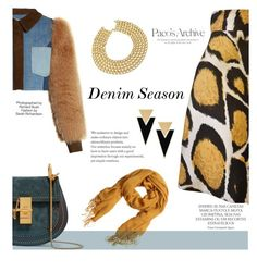 """Denim Season"" by betterthanbalmain ❤ liked on Polyvore featuring Sonia Rykiel, Giles, Yves Saint Laurent, Chanel, Chloé, H&M, Magdalena, Industrie, contest and denim"