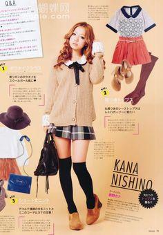 Sweet japanese fashion magazine