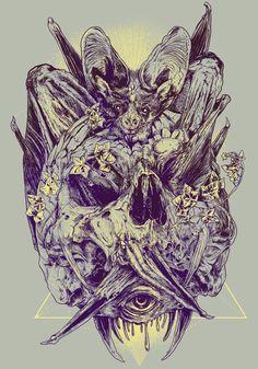 FEW SKULLS LATER by Rafal Wechterowicz, via Behance