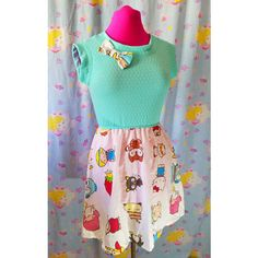 Sanrio Dress Hello Kitty Little Twin Stars Pompompurin Retro Pullover... ($60) ❤ liked on Polyvore featuring dresses, lullabies, black and women's clothing