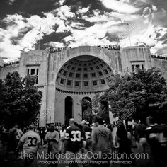 Black & White Photography Print of Ohio Stadium on Game Day