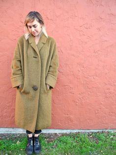 Floor Length Faux Fur Coat Vintage Oversized Fur by OurKin Fur Carpet, Green Silk, 1970s, Faux Fur, Fur Coat, Plus Size, Floor, Jackets, Shopping