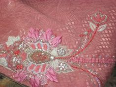 Lovely Pink Beaded embroidery
