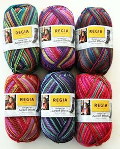 Getting Stitched on the Farm: Kristin's Garden Effects Sock Yarn - New from Regia!