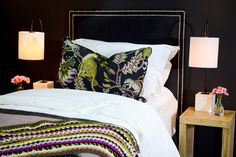 A cosy bedroom setting perfect for ushering in the colder seasons. As seen at the Johannesburg HOMEMAKERS Expo.