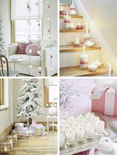 I don't celebrate Christmas, but this decor could be for any holiday... gorgeous! too bad it's not baby-proof ;)
