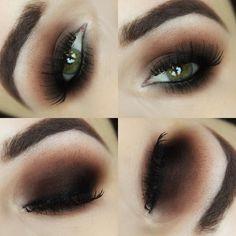 49 Trendy Makeup Looks For Brown Eyes Casual Beautiful Eye Makeup, Natural Eye Makeup, Dark Makeup, Blue Makeup, How To Make Hair, Eye Make Up, Casual Makeup, Makeup Looks For Brown Eyes, Makeup Step By Step