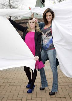 Acclaimed fashion designer Peter O'Brien and Glenda Gilson . Irish Fashion, Duster Coat, Jackets, Fashion Design, Down Jackets, Jacket