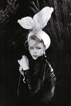 Skye Stracke looks stunning wearing bunny ears in Marie Claire Italy November 2009 issue.