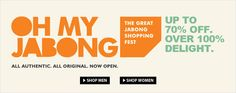 The great #Jabong Shopping Fest – Get up to 70% #discount on all Products   Discount on Men and Women  Clothing, Fashion Accessories, #Shoes, Home & #Furniture, #Bags, #Jewellery, #Beauty products and #Sports items.  #Shopping #India #Fashion