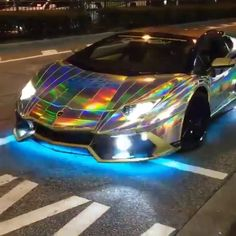 A crazy Lamborghini Aventador Roadster   What do you think of this? Tag a…