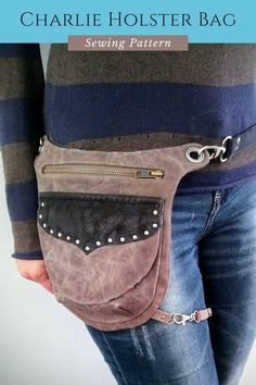 Fanny Pack Pattern, Bag Pattern Free, Bag Patterns To Sew, Sewing Patterns, Thigh Bag, Latest Bags, Sewing Basics, Things To Sell, Bum Bag