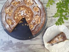 Almond-Rosewater and Walnut-Cardamom Zebra Cake Recipe on Yummly Almond Flour Cakes, Cardamom Cake, Cake Recipes, Dessert Recipes, Middle Eastern Desserts, Lebanese Recipes, Rose Water, Sweets, Dishes
