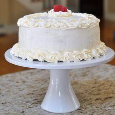 Raspberry Lemon Layer Cake with Buttercream Frosting