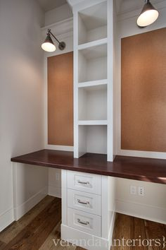 This seperation (even deeper shelves between desk areas) is more what I think we will need. Watermark {1} Homework Room // Veranda Estate Homes & Interiors