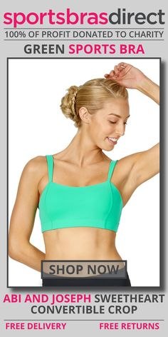 Designed with comfort and flexibility in mind this medium impact, wirefree sports bra features a convertible back, adjustable straps, removable cups and a compressive fit. The Sweetheart Convertible Green Sports Crop by abi and joseph is complimented by the beautiful pastille colours adding a touch of colour to your workout. Shop Now! #bra #sportsbra #green #greenbra #greensportsbra