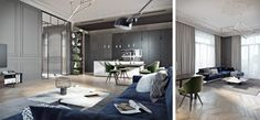 TOL'KO / Luxurious apartment at Krestovskiy island