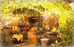 The Painted Garden in Old Town Temecula. Temecula California.