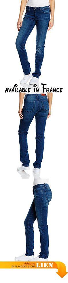 B01B55MQUA : TOMMY HILFIGER DENIM - Mid Rise Straight Sandy Mbsost - Jeans Femme bleu Taille W26/L32.