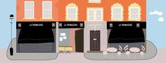 {  La fromagerie está en Moxon St que es una calle pequeñita e ideal con varias tiendas delicatessen. Este es el dibujo que hice para el post De tiendas por Londres para un afternoon tea  }   #lafromagerie #dibujo #londres