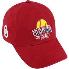 purchase cheap 9e197 fbdd4 Oklahoma Sooners Top of the World 2017 Big 12 Softball Champions Adjustable  Hat - Crimson