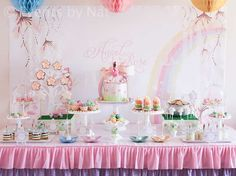 Enchanted Pastel Rainbow Fairy Birthday Party Ideas | Photo 1 of 28 | Catch My Party