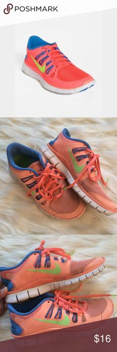 Nike women's free run 5.0 Sz 8 These have been used quite a bit, but there is still lots of life left! No holes or tears of any sort. There is scuffing of course and discoloration. They could use another cleaning. These would be good for running, hiking,  https://twitter.com/faefmgianm/status/895095114724327424