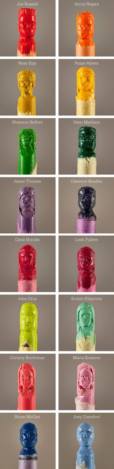 crayon carving | Coloring Crayon Carvings Look Just Like This Company's Employees