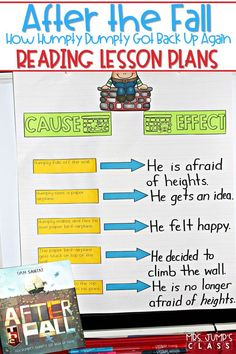 Check out these engaging lesson plans to teach reading comprehension strategies such as predicting, story retelling, making connections, and understanding the author's purpose. There is even vocabulary and sentence study, too! You and your students will love this story! #afterthefall #humptydumpty #engagingreaders