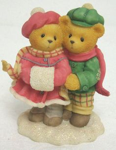 Cherished Teddies 533874 CARLIN & JANAY Count Blessings MINT #Enesco #CherishedTeddies