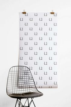 Chasing Paper Antlers Removable Wallpaper