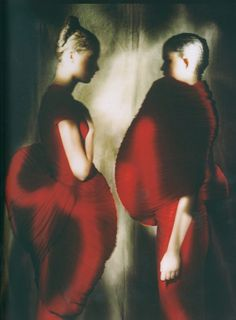 Comme des Garçons, Dress from the Spring/Summer 1997 Collection, photographed by Paolo Roversi tag: Rei Kawakubo