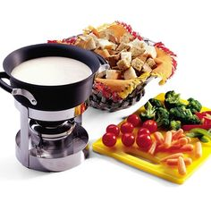 Swiss Cheese Fondue- kid friendly for Geography Club