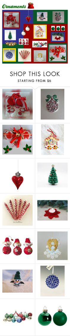 """""""Ornaments"""" by anna-ragland ❤ liked on Polyvore featuring interior, interiors, interior design, home, home decor, interior decorating, Hostess, Shishi, contemporary and vintage"""