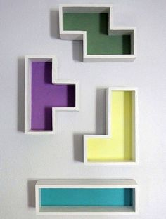DIY Tetris Shelves | Whimseybox