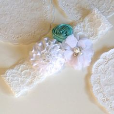 Snow Queen Mint Headband. White and mint by TutusChicBoutique, $14.50