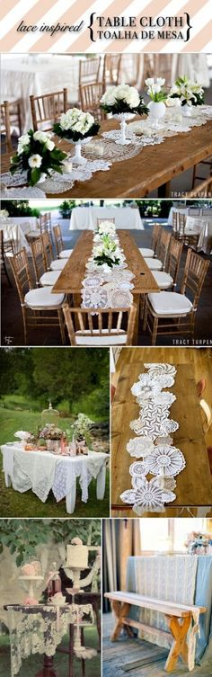 ek sal graag hout tafels wil he vir die gaste . het doilies wat ons so kan gebruik vir die lopers. Rustic Wedding, Our Wedding, Wedding Ideas, Wedding Hair, Wedding Table, Lace Table Runners, Lace Runner, Wedding Decorations, Table Decorations
