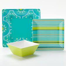 Resultado de imagen para outdoor dinnerware sets