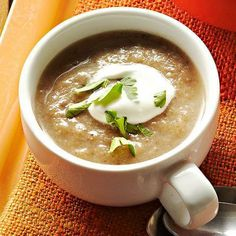 Mushroom Soup, a velvety soup that tastes rich and creamy but is actually dairy-free.