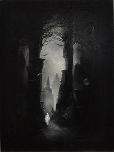 Illustrations of Edgar Allan Poe by Anne Bachelier