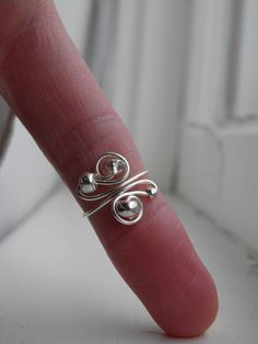wire wrapped toe rings - Google Search