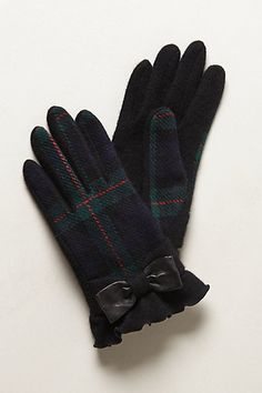 CLASSIC TARTAN - Yoyogi Park Gloves #anthropologie