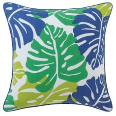 Maui ColorSpree Pillow in Julep (Patterned Pattern, outdoor pillows) | Room Furnishing Accessories, Accent Pillows from Company C (New)