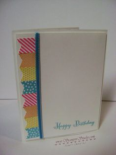 Stampin' Up! Banner Blast, Banner Punch, Sale--a-bration, Perfect Pennants, It's Your Birthday