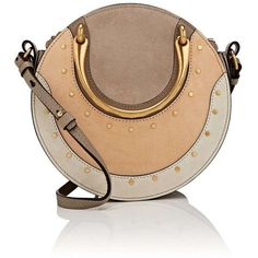 Chloé Women's Pixie Leather Crossbody Bag (5,760 PEN) ❤ liked on Polyvore featuring bags, handbags, shoulder bags, grey, leather handbags, crossbody purse, chloe crossbody, gray crossbody purse and grey leather purse