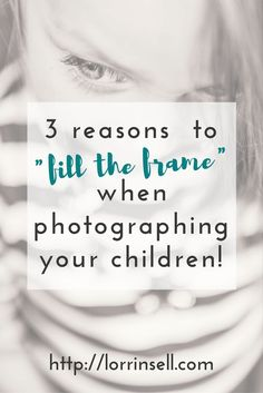 next time you are taking pictures of your kids, try this composition trick.!