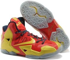 finest selection 3a26e b31c9 Lebron 11 PS Elite Red Gold White