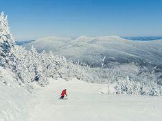 Stowe VT Winter Skiing - Mt. Mansfield, Spruce Peak #stowe #vt #skivt